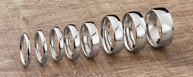 Tamaños mas populares de alianzas de boda