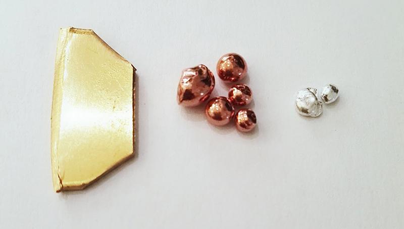 Oro, plata y cobre