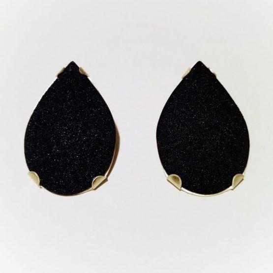 Pendientes Pear negro