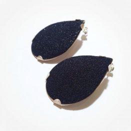 Pendientes Talla Pear Negro