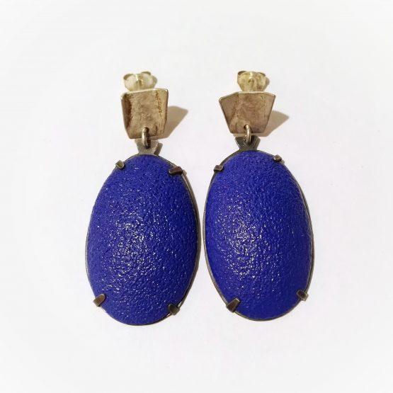 Pendientes Azul Talla Oval