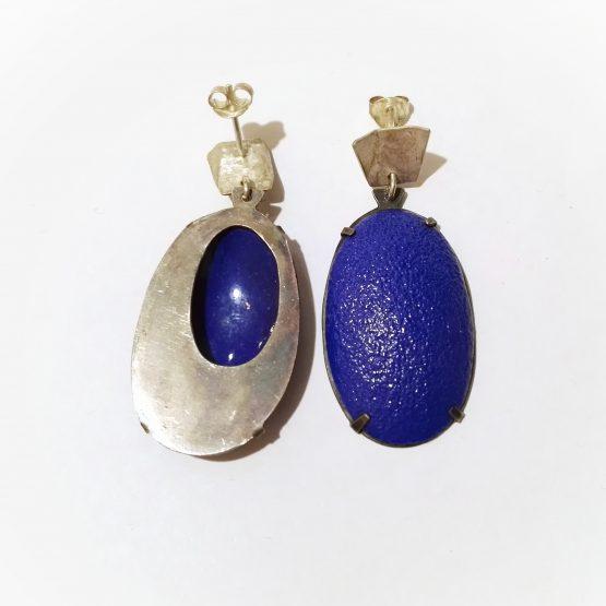 Pendientes Azules talla Oval